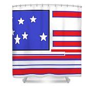 Geo Flag Shower Curtain