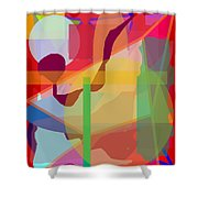 Geo Frenzy Shower Curtain