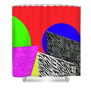 Geo Shapes 2 Shower Curtain