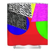 Geo Shapes 2a Shower Curtain