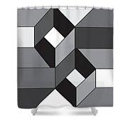 Geoblock52bnw Shower Curtain