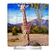 Geoffrey Giraffe Shower Curtain