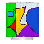 Geographical Summer Shower Curtain