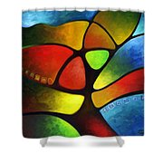 Geometree Shower Curtain