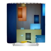 Geometric Abstract 0790  Shower Curtain