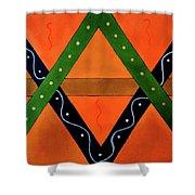 Geometric Abstract II Shower Curtain