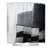 Geometric Angles And Shapes Shower Curtain