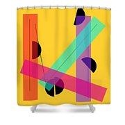 Geometric Art 419 Shower Curtain