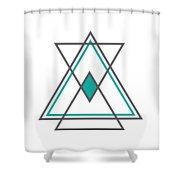 Geometric Art Shower Curtain