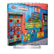 Geometric Art In Burano Shower Curtain