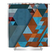 Geometric Beginnings Shower Curtain