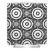 Geometric Black And White Shower Curtain