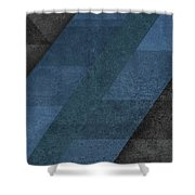 Geometric Blue Shower Curtain