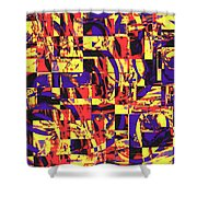 Geometric Confusion 1 Shower Curtain