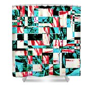 Geometric Confusion 2 Shower Curtain