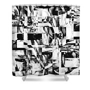 Geometric Confusion - Black And White Shower Curtain