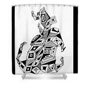 Geometric Dog Shower Curtain