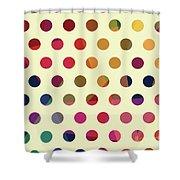 Geometric Dots Shower Curtain
