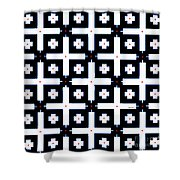 Geometric In Black And White Shower Curtain