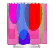 Geometric Layers  Shower Curtain