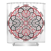 Geometric Mandala Shower Curtain