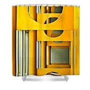 Geometric Parity II Shower Curtain