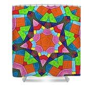 Geometric Pattern 1 Shower Curtain