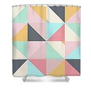 Geometric Pattern Xv Shower Curtain