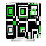 Geometric Pizazz 4 Shower Curtain