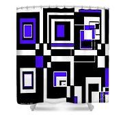 Geometric Pizazz 5 Shower Curtain