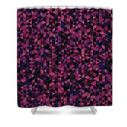Geometric Print Shower Curtain