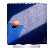 Geometric Shadows Shower Curtain
