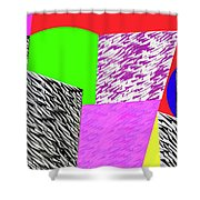 Geometric Shapes 1 Shower Curtain