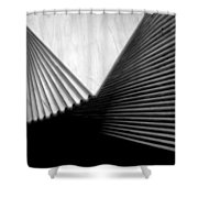 Geometric Shapes And Stairs Shower Curtain