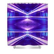 Geometric Street Night Light Pink Purple Neon Edition  Shower Curtain