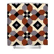 Geometric Textile Design Shower Curtain