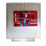 Geometrical Abstract Shower Curtain
