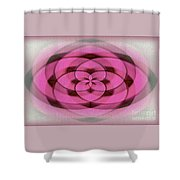 Geometrical Colors And Shapes 4 - Hearts Shower Curtain