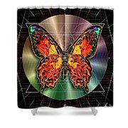 Geometron Fyr Lepidoptera Shower Curtain