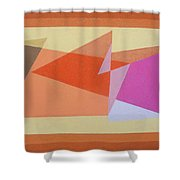 Geometry Shapes And Colors 6 Shower Curtain