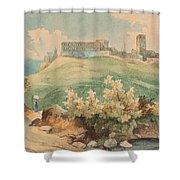 Georg Geyer 1823   Wien   1912   Burg Brandzoll In Tirol Shower Curtain