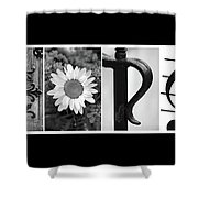 George Alphabet Art Shower Curtain