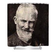 George Bernard Shaw Author Shower Curtain