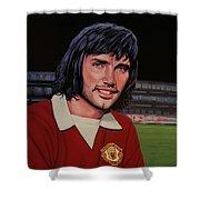 George Best Painting Shower Curtain by Paul Meijering