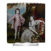 George Capel, Viscount Malden, And Lady Elizabeth Capel Shower Curtain