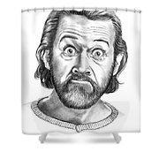 George Carlin Shower Curtain