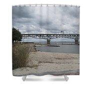 George Coleman Bridge Yorktown, Virginia Shower Curtain