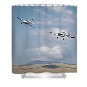 George Ford And Matt Beaubien In Friday Morning's Sport Class 5x7 Aspect Shower Curtain