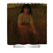 George Fuller   Farmer Girl Shower Curtain