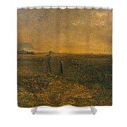 George Fuller   Twilight On The Prairie Shower Curtain
